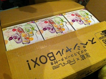 氷結 やさしい果実の3% Perfume スペシャルBOX  ×6BOXキタ~